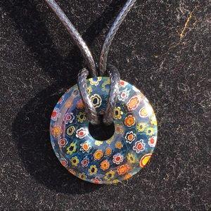 Gorgeous Millefiori Pendant Necklace